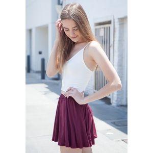 Brandy Melville // Burgundy Skirt